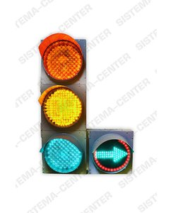 T.1l2/T.1r2 vehicle road traffic light with additional panel: Фото - Система центр